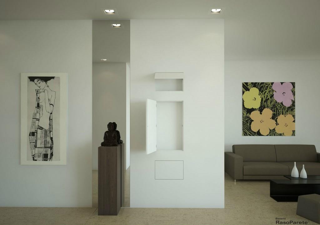 Sistemi raso parete rende la tua casa funzionale oltre - Porte in cartongesso ...