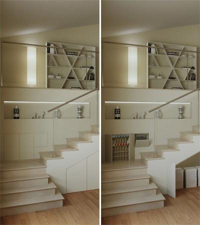 Sistemi raso parete perfetti per far apparire solo lo spazio oltre le porte - Spazio minimo per un bagno ...