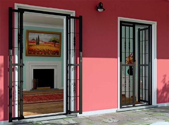 Sicurezza per porte e finestre grate piquadro oltre le porte - Grate per finestre a scomparsa ...