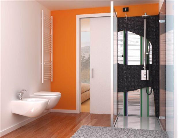 Controtelai protek un ottima soluzione salva spazio - Porte scorrevoli per bagno ...
