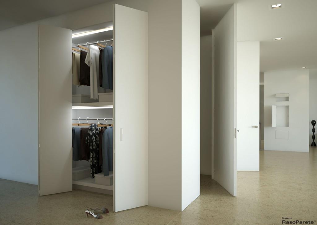 Sistemi raso parete modificare e creare nuovi spazi - Porte invisibili scorrevoli ...
